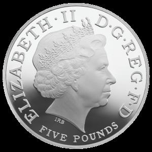 Аверс серебряного соверена 2013
