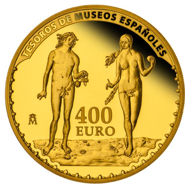Цена испанской монеты 400евро из золота адам иева мадонна сервиз гдр