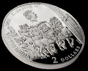 Аверс серебряной монеты Священный Грааль