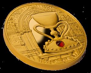 """Золотая монета """"Священный Грааль"""" 100 долларов"""