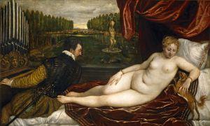 Tizian Venera s organistom i sobakoj