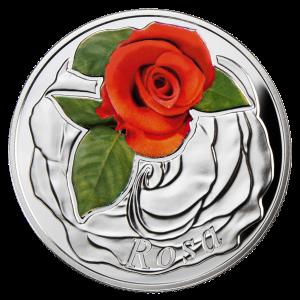 "Серебряная монета ""Роза"" 2013"