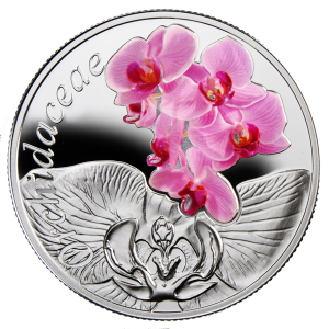 "Серебряная монета ""Орхидея"" 10 рублей Беларуси 2013"