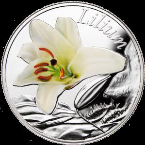 "Серебряная монета ""Лилия"" 10 рублей Беларусь 2013"