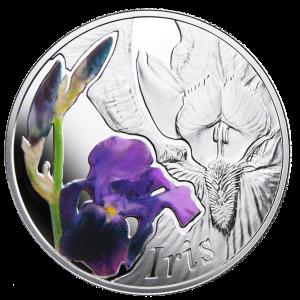 "Серебряная монета ""Ирис"""