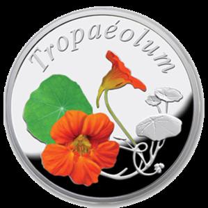 "Серебряная монета ""Настурция"" 10 рублей Беларусь"