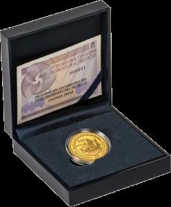 Золотая монета Бальбоа первооткрыватель Тихого океана 200 евро Испания в футляре с сертификатом