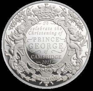 5 унций серебряная монета к крещению наслелника британского престола 2013