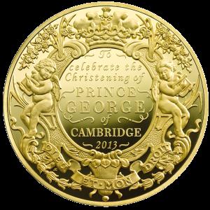 Золотая килограммовая монета в честь крещения принца Георга