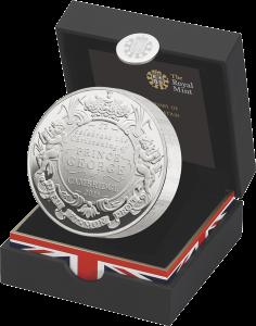 Сеебряный пидфорт в честь крещения наследника британского престола, 5 фунтов 2013