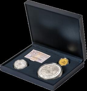 """Набор из 3 монет """"Бальбоа первооткрыватель Тихого океана"""" Испания 2013"""