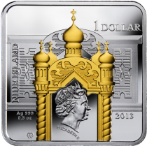 "Аверс серебряной монеты ""Николай Чудотврец"" 213"