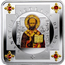 "Серебряная монета ""Святой Николай Чудотворец"" 2013"