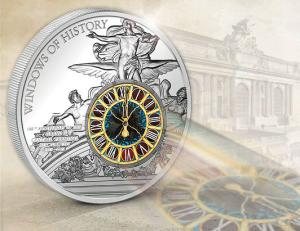 "Серебряная монета ""Часы на Центральном вокзале Нью Йорка"""