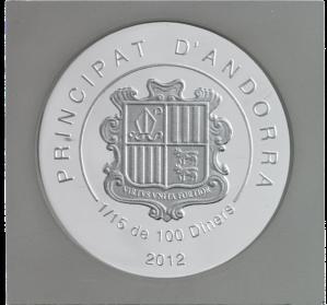 """Аверс одной из 15 монет набора """"Фонтан Треви в Риме"""""""