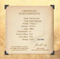 """Сертификат серебряной монеты """"Сердечко моё"""""""