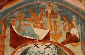Muzey Fresok Dionisia Rozhdestvo i kreschenie svyatitela Nikolaya