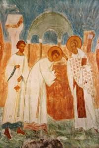 Muzey Fresok Dionisia Rukopolozhenie svyatitela Nikolaya vo diakona