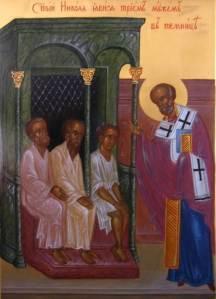 Sv Nikolay spasaet oklevetannih voevod
