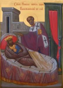 Sv Nikolay yavilsa imp Konstantinu vo sne