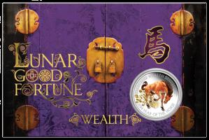 04-2013-GoodFortune-YearOfTheHorse-Wealth-Silver-1oz-InCardReverse