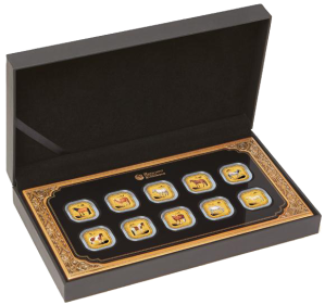 Ten-Coin-Horse-Set---Gold-InCase