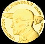 Canonization_05g Au монета Конго 2014