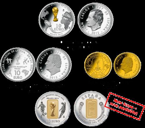 Монеты Испании к Чкмпионату FIFA 2014 в Бразилии