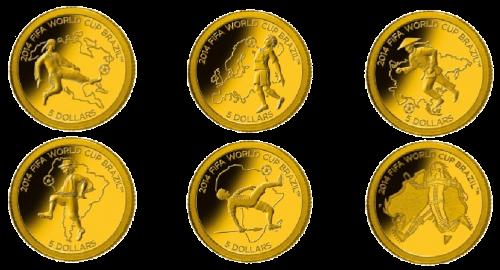 11 друзей Чемпионата ФИФА 2014 золотые монеты