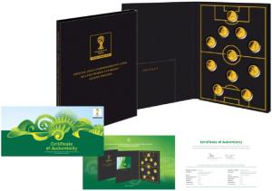 11 друзей Чемпионата FIFA 2014 золотые монеты Соломоновых Островов и Австралии