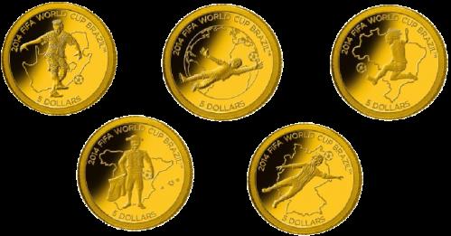 золотые монеты 11 друзей Чемпионата мира по футболу 2014