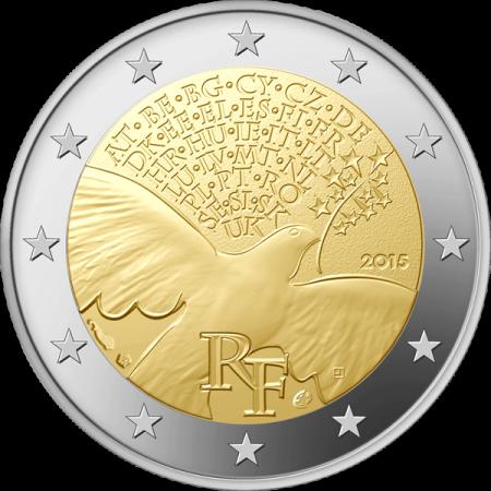 Монета 2 евро 2015 Мир в Европе (Франция)
