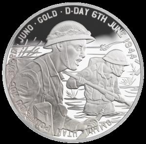 Серебряная монета 70-летие высадки в Нормандии DDay 2014