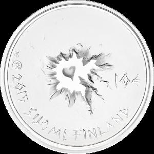 """Аверс серебряной монеты """"Сису"""" 10 евро 2015 Финляндия"""