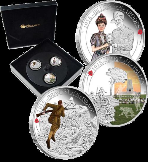 Серебряные монеты к 100 летию Первой мировой войны - Perth Mint апрель 2015