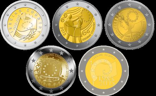 Дизайны монет 2 евро 2015 к 30-летию флага Европы