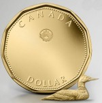 Монета 1 канадский доллар 2017