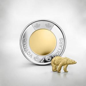 монета 2 канадских доллара 2017