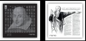 NANO чипы на серебряных монетах Ромео и Джульетта 2014 и Моисей Let My People Go! 2015