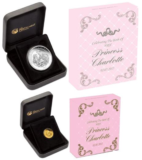 Перт Минт монеты к рождению принцессы 2015
