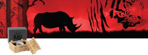 """Серебряная монета """"Чёрный носорог"""" 2015 Ниуе Новая Зеландия"""