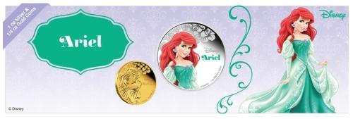 Ариель принцесса Диснея монеті 2015