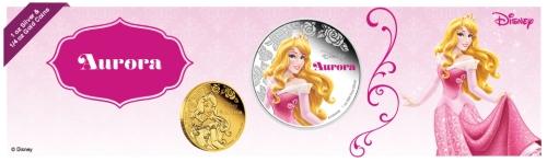 Русалочка Аврора монеты 2015  Дисней