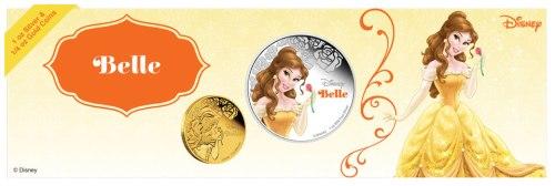 Красавица Белль и Чудовище монеты Дисней 2015