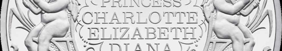 Серебряная монета Крещение принцессы Шарлотты 2015