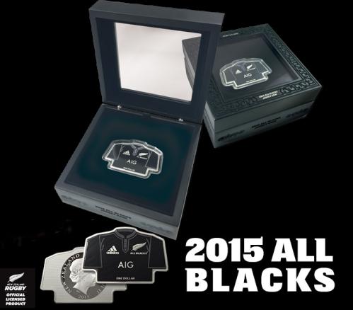 Серебряная монета All Blacks 2015