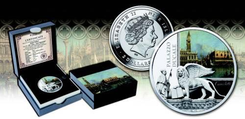 Серебряная монета Дворец Дожей в Венеции 2015 Монетный двор Польши