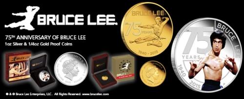Брюс Ли 2015 золотая и серебряные монеты Пертский монетный двор Австралия