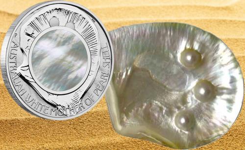 Серебряная монета Перламутр австралийских ракушек 2015 Пертский монетный двор