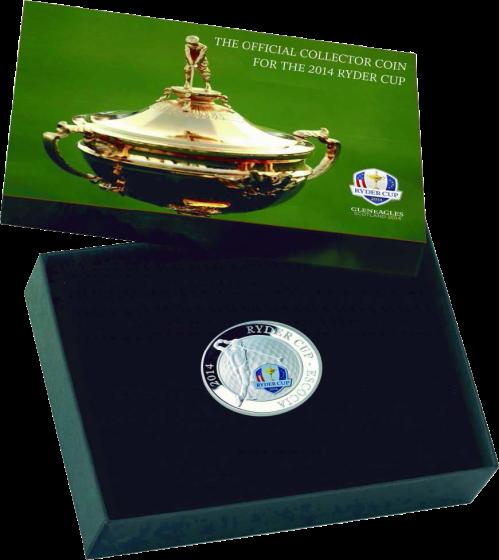 Серебряная монета Ryder Cup 2014